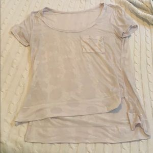 Lululemon Sheer White Polka Dot Shirt